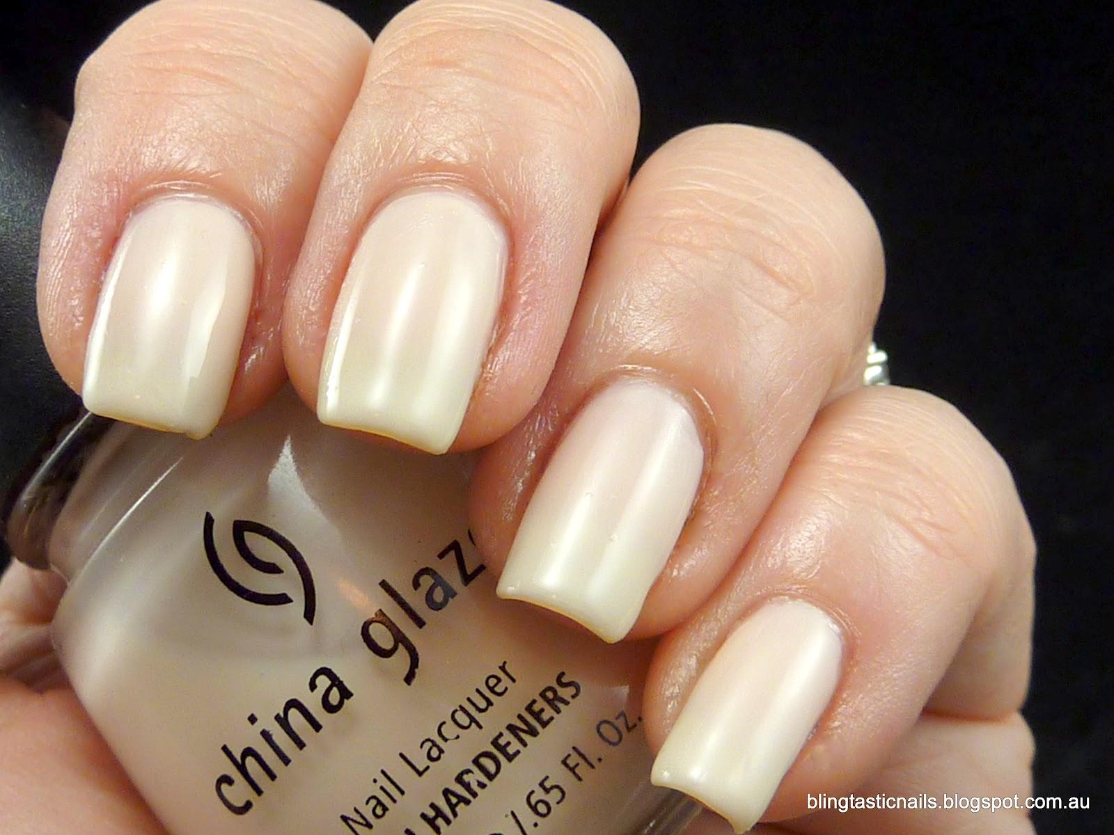 Jas\'s Blingtastic Nails: China Glaze Australian Alabaster