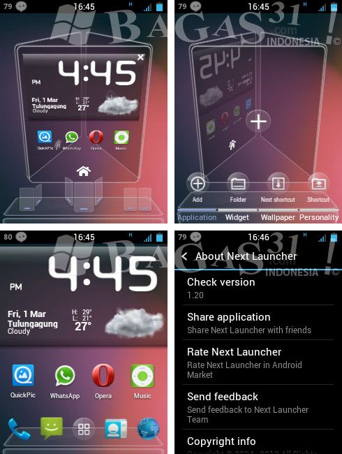 Next Launcher 3D 1.20 for Android 2