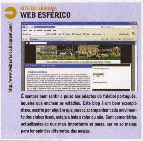 O 1.º Webesférico na Revista J