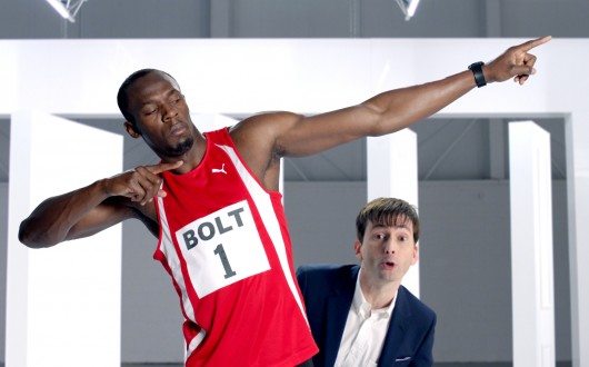 David Tennant and Usain Bolt - Virgin Media Collection