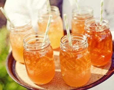 Sweet tea in mason jars@northmanspartyvamps.com