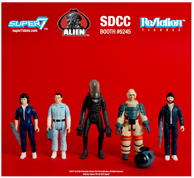"Alien ReAction Kenner Action Figures by Super7 - Ripley, Ash, Alien (""Big Chap""), Kane & Dallas"