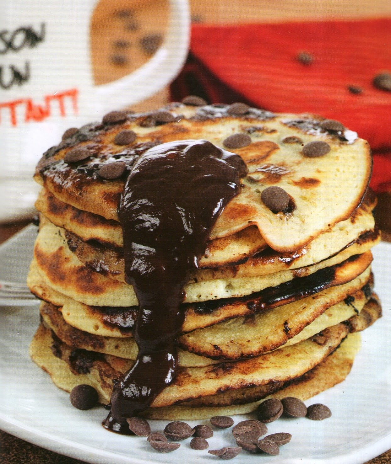 la cuisine alg u00e9rienne  pancakes aux pepites de chocolat