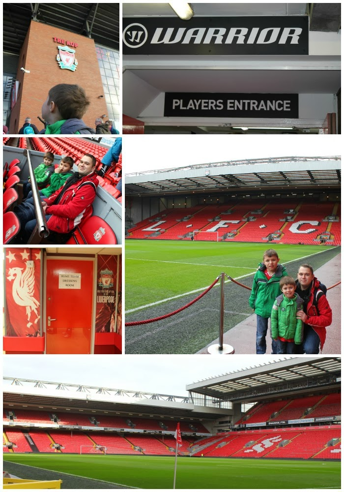 Anfield tour the kop