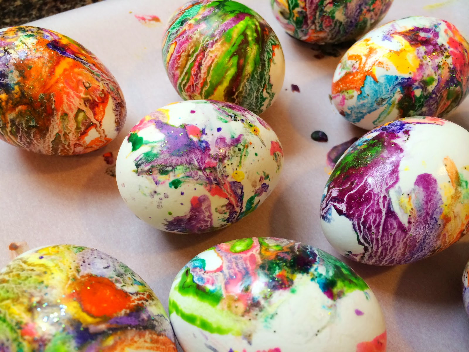 our beautifully messy house crazy colored easter eggs