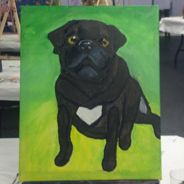 "alt=""Dog Painting"""