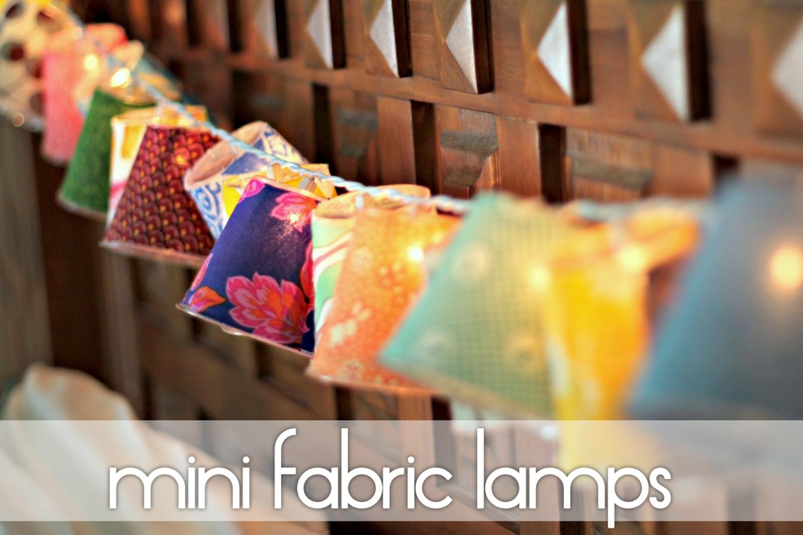 Mini lamp shades - Mini Fabric Lamps