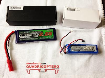 Baterias quadcopter drone