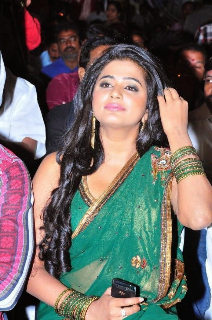 Actress Priyamani In Green Transparent Saree HD Photos - HD