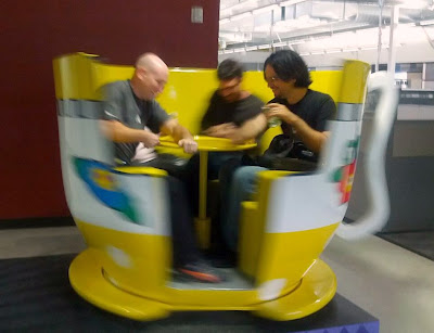 spinning in a teacup ride