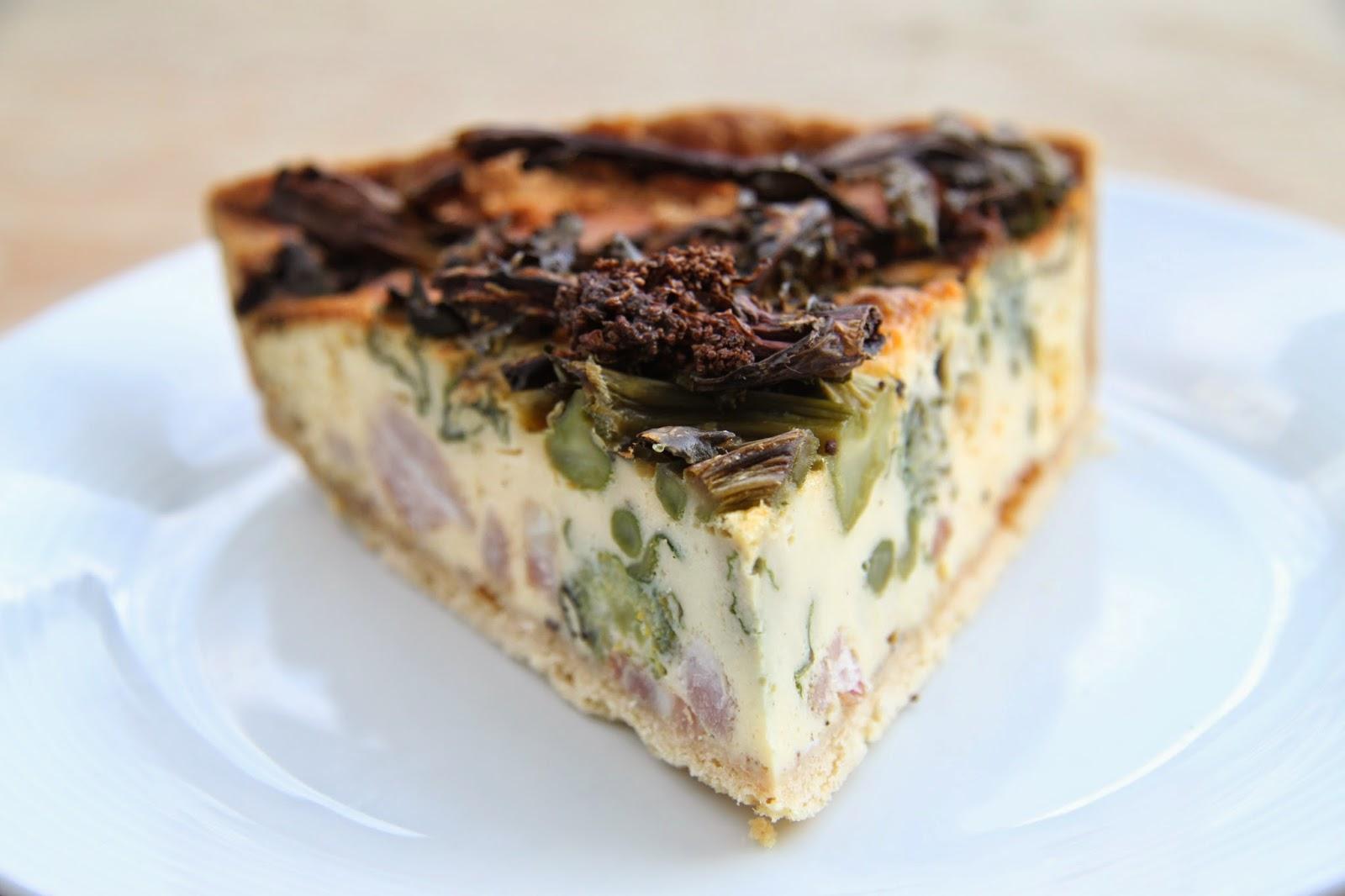 ... : Sluttishly Savoury: Roast Purple Sprouting Broccoli & Bacon Quiche