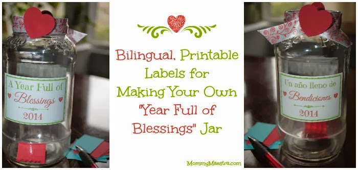 photograph regarding Blessings Jar Printable identify Mommy Maestra: A Calendar year entire of Blessings Game Printable