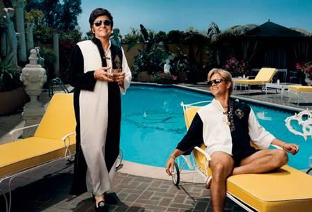 Michael e Matt no filme 'Behind the Candelabra' (Foto: Divulgação)