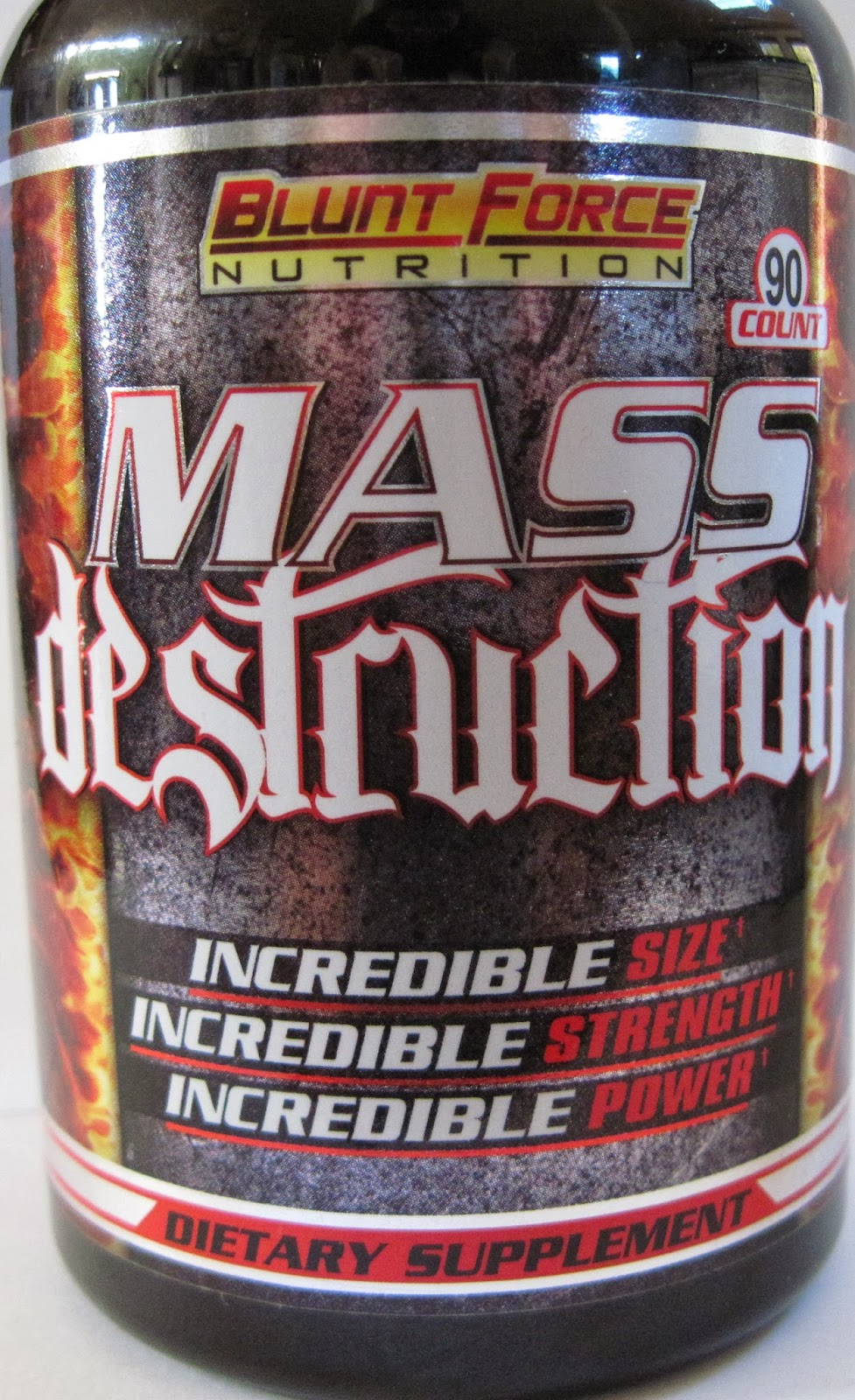 The U.S. Food and Drug Administration is advising consumers to immediately stop using a product called Mass Destruction, marketed as a dietary supplement for muscle growth. The product is labeled to contain at least one synthetic anabolic steroid and has been linked to at least one reported serious illness