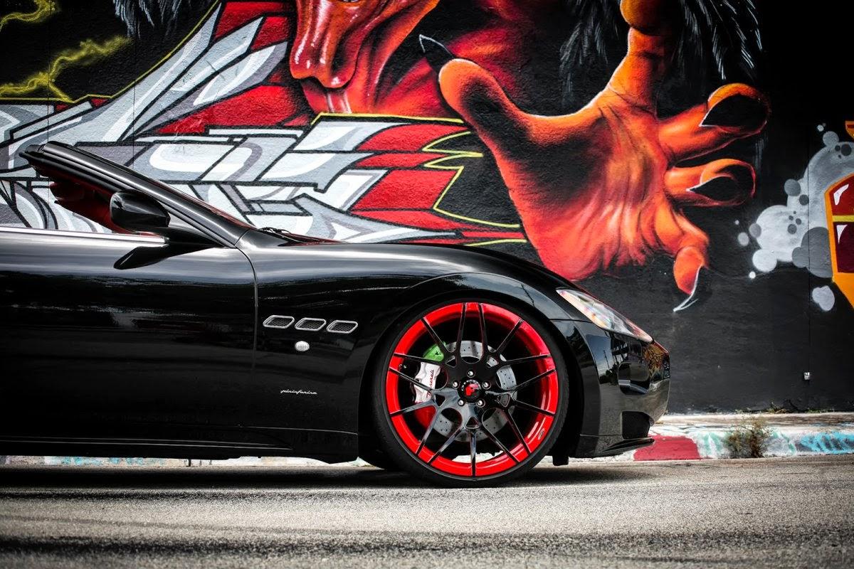 "Exclusive Maserati GranTurismo On Forgiato wheels صور سيارات: حصرياً ""مازيراتي جران توريسمو على فورجياتو"" العجلات السوداء"