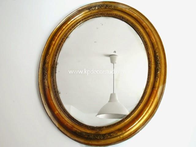 Espejo antiguo isabelino dorado vintage