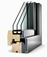 Okno drewniano aluminiowe HF 310 Internorm z wkładka termiczną i szybą Solar+