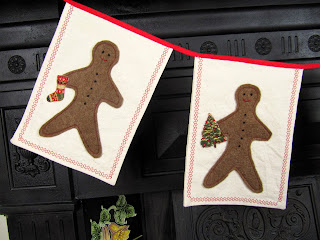 Gingerbread man Christmas bunting detail