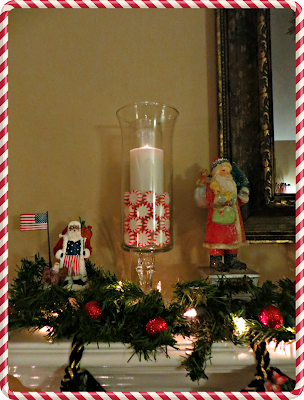 Christmas Crafts, Peppermint, candle, diy, hurricane candle