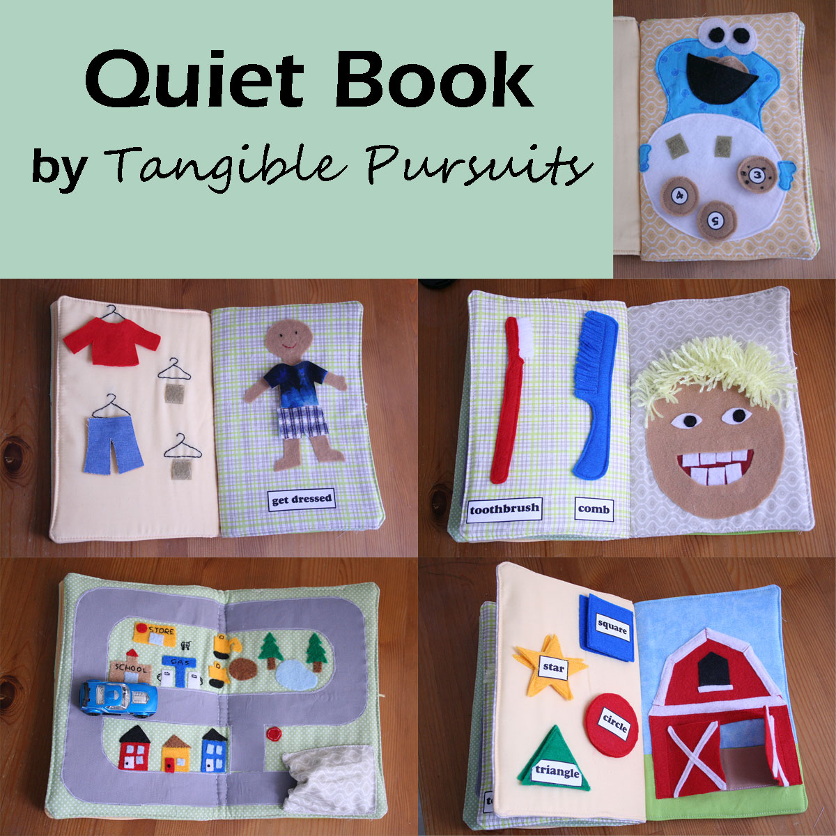 Quiet Book Cover Template : Tangible pursuits quiet book