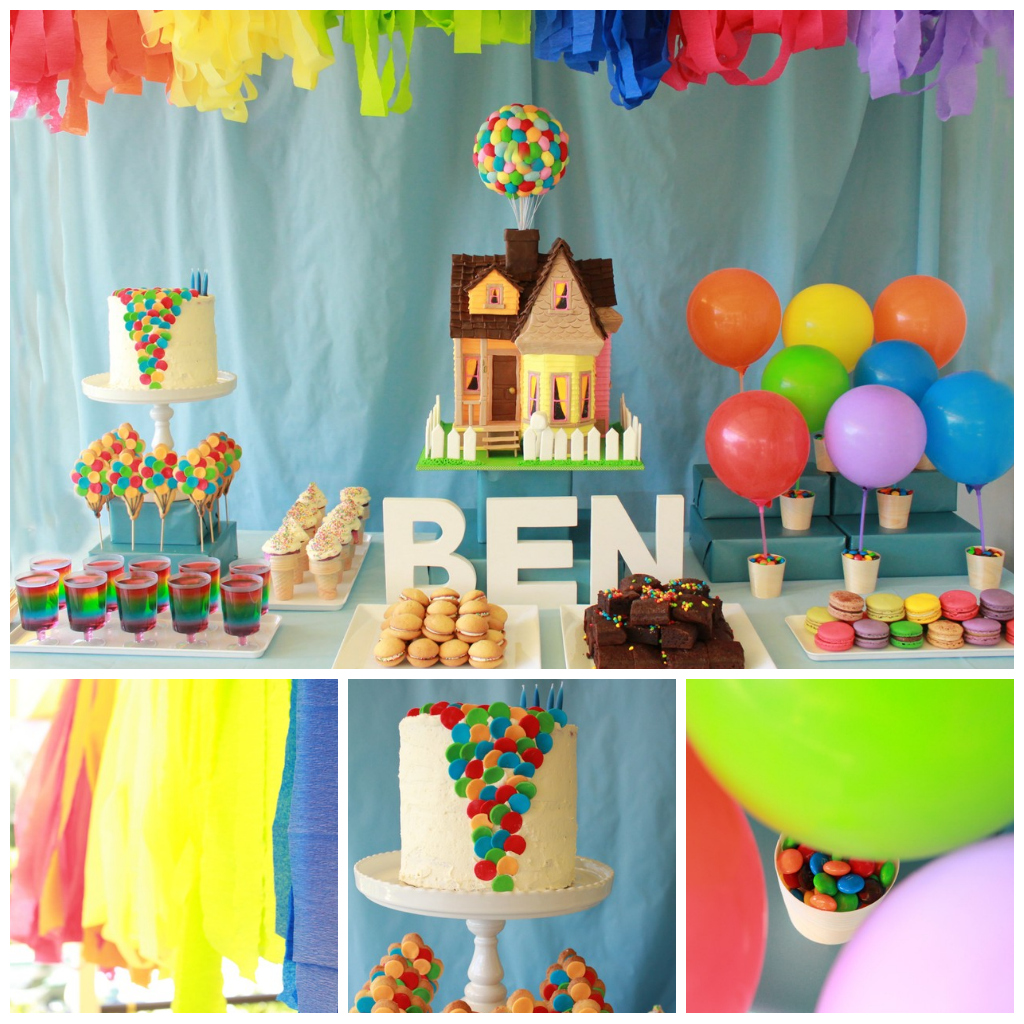 """Blissfully Sweet: Ben's """"Up"""" Themed 4th Birthday Cake"""