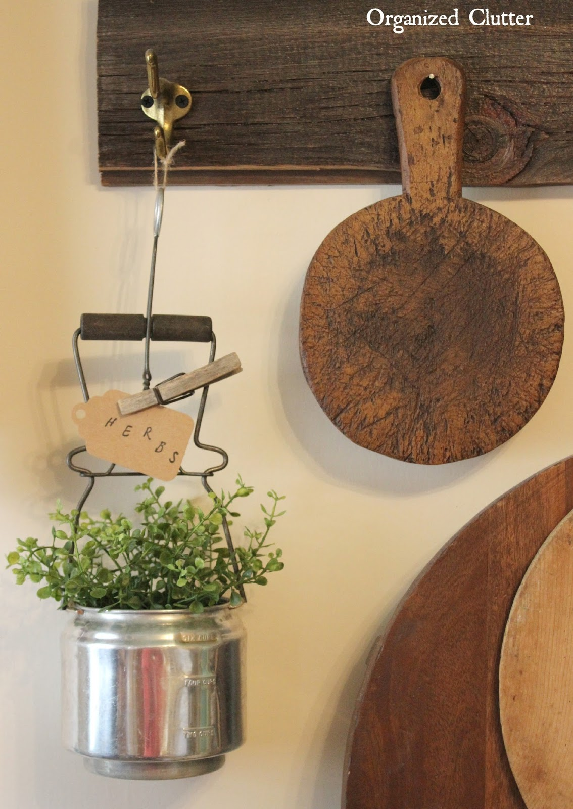 Thrift Shop Utensil Repurposed Planter www.organizedclutter.net