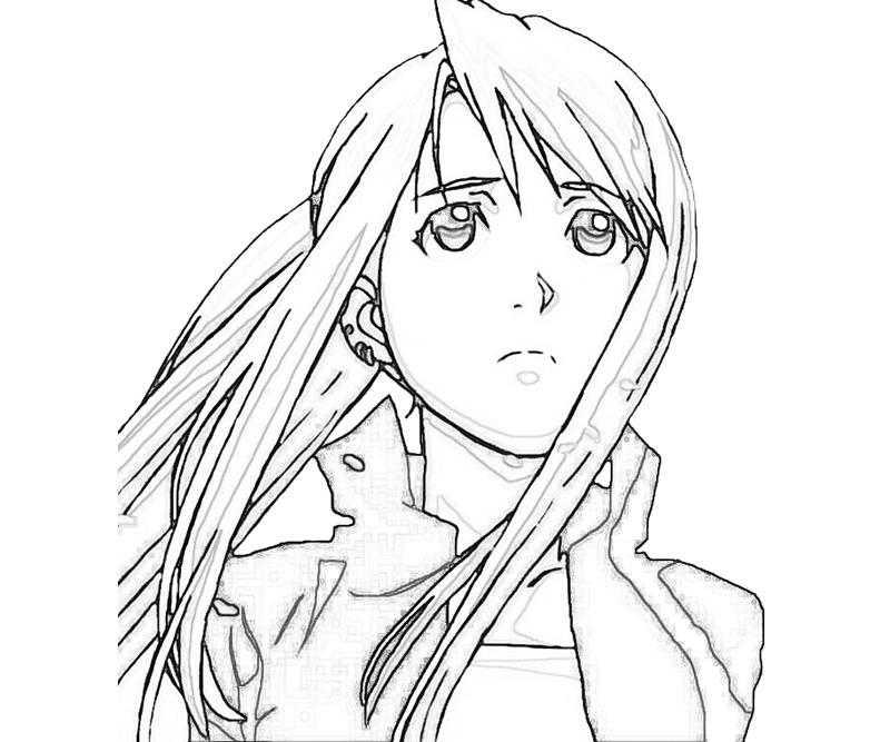 free fullmetal alchemist coloring pages - photo#34