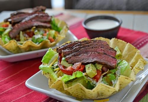 fajita skirt steak salad, beef salad