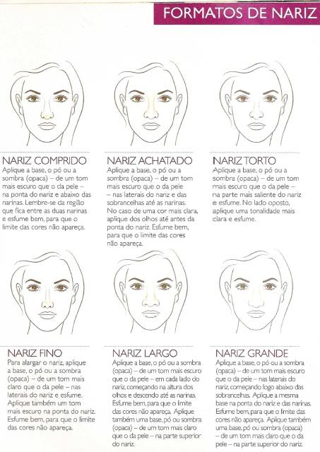 dicas de maquiagem correção de nariz
