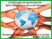 CERTIFICADO DE PARTICIPACION  RETO VELADOR LA HORA DEL PLANETA