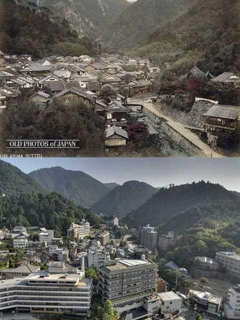 """Koleksi Foto Jepang """"100 Tahun Lalu dan Sekarang"""""""
