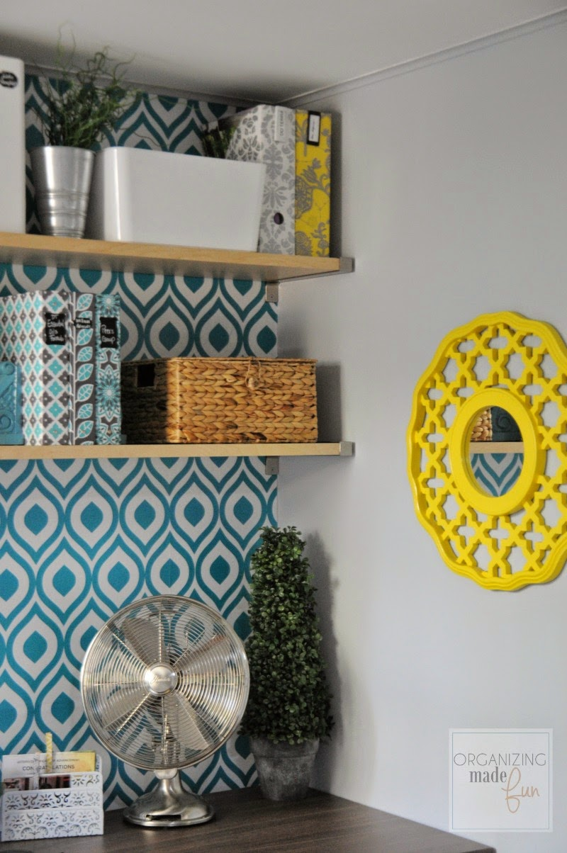 Fun and cheery home office:: OrganizingMadeFun.com