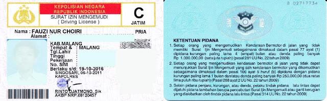Peraturan SIM terbaru 2016_SIM C, SIM C1 dan SIM C2