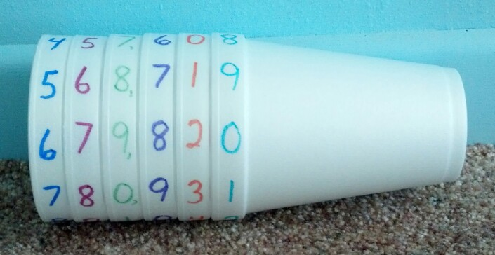Place Value Styrofoam Cups