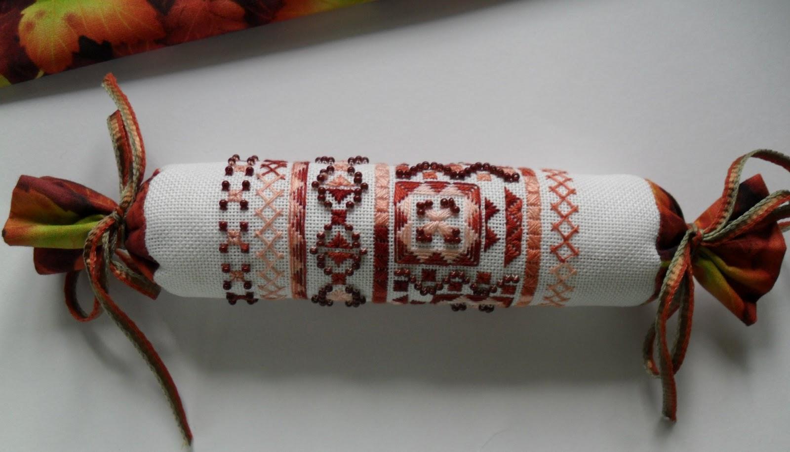 Вышивка оформление в батончик