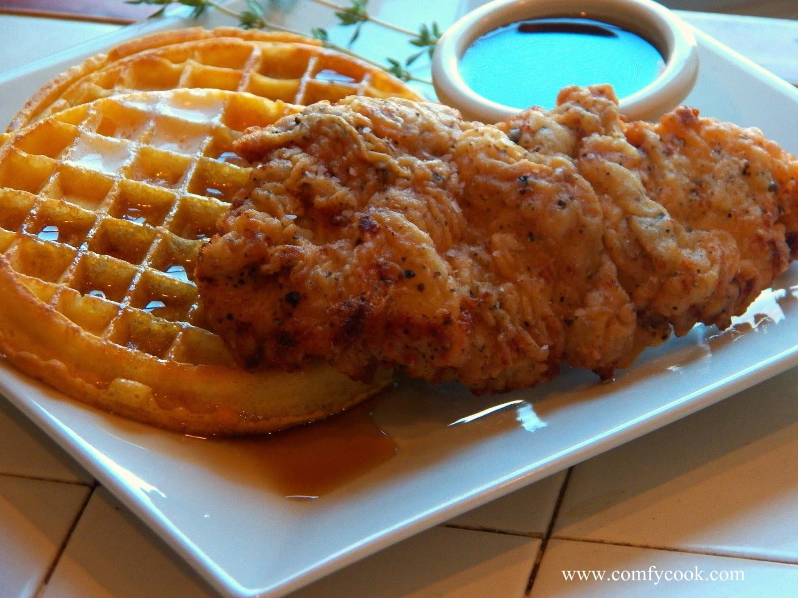 Fried Chicken And Waffles Fry chicken until golden brown