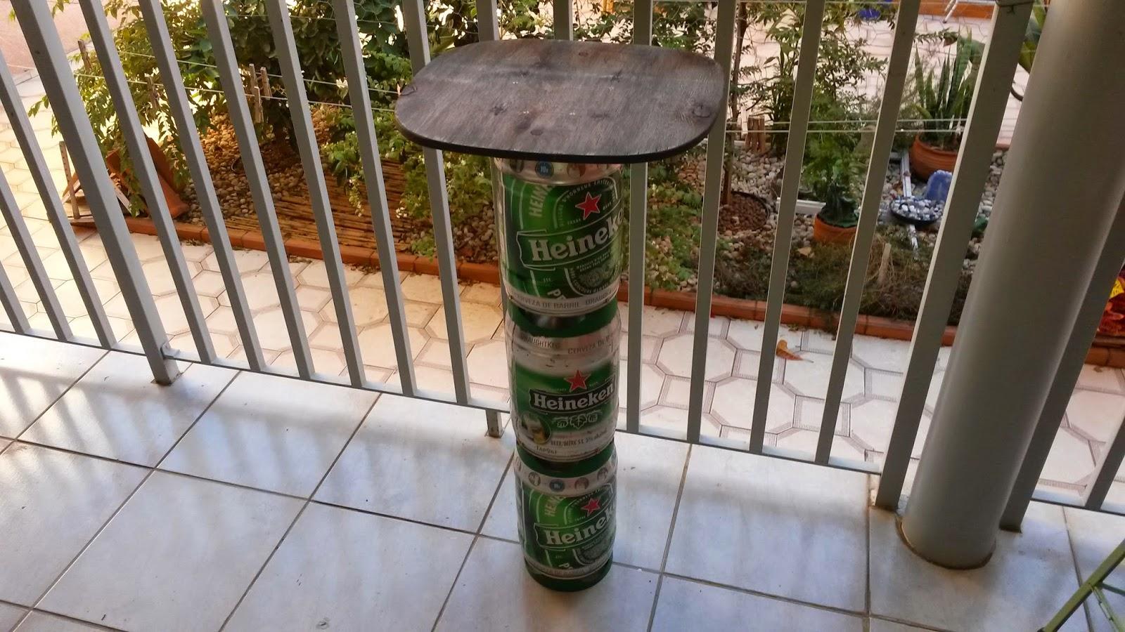 Oficina do quintal como fazer uma mesa alta para bar usando barril de cerveja - Mesas altas de bar ...