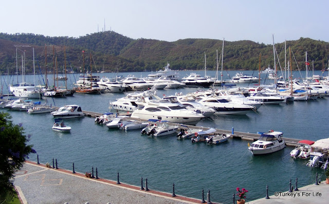 View of Fethiye Marina From Doruk Hotel