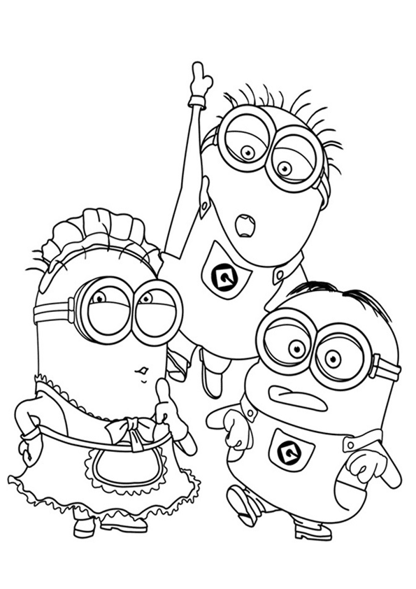 Free coloring pages of minion goggles