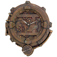 Steampunk Wall Clock Present
