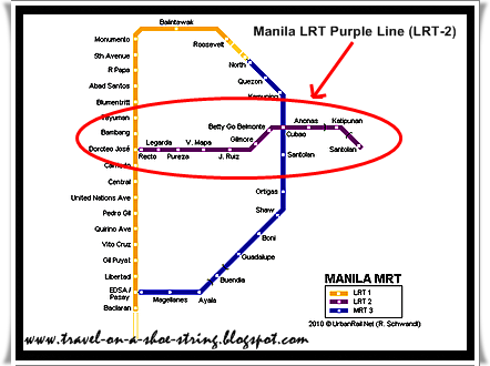 The Light Rail Transit Line 2 (LRT 2) | Directions, Routes, Maps ...
