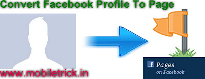 Convert Facebook Profile Into Facebook Page