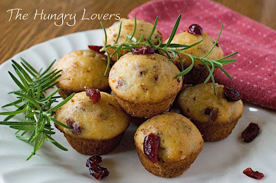 Orange-Cranberry-Rosemary Muffins