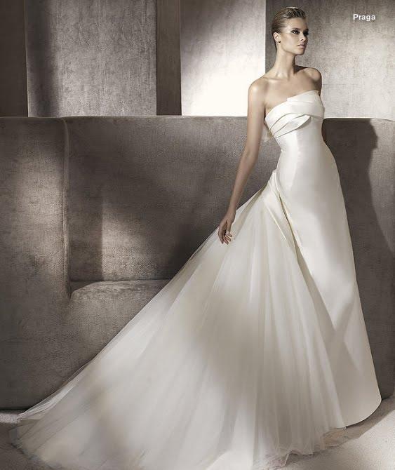 todo sobre bodas: vestido de novia praga pronovias 2012 manuel mota