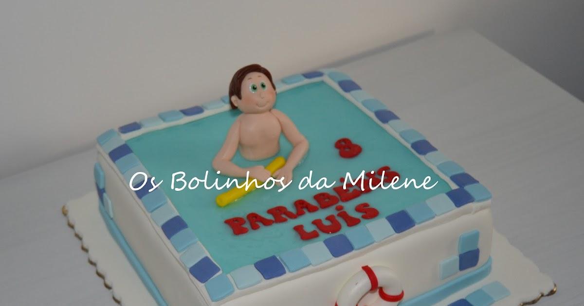 Cake Design Lisboa Encomendas : Cake Pops Portugal : . . Os Bolinhos da Milene: Bolo Piscina