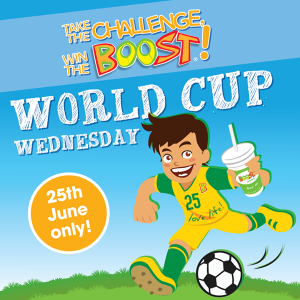 Boost Juice Bars World Cup Wednesday Free Boost