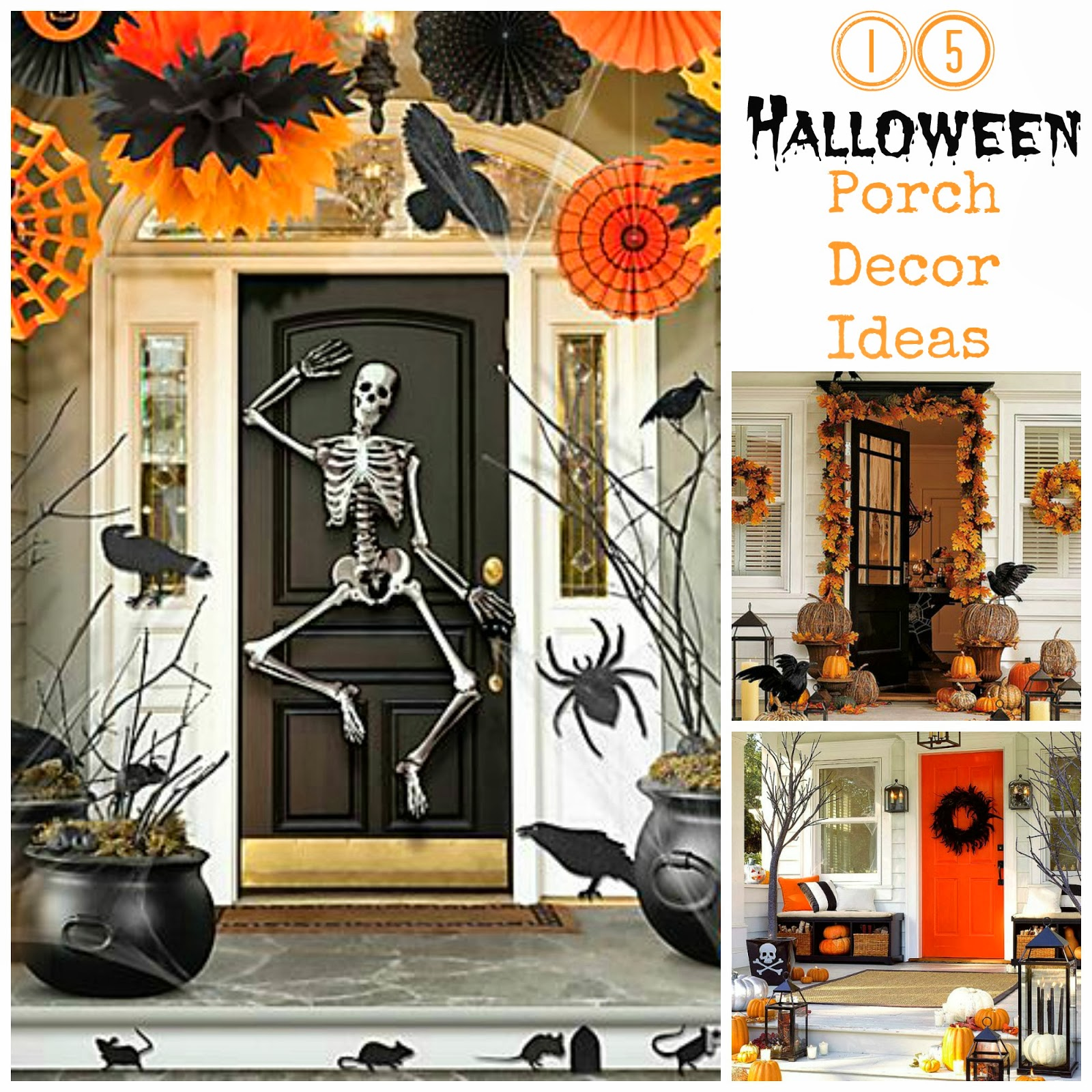 15 halloween porch decor ideas i dig pinterest - Decorating Outside For Halloween