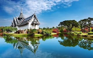 Palacio Sanphet Prasat en Bangkok, Tailandia.
