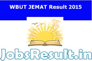 WBUT JEMAT Result 2015