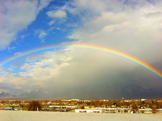 Rainbow over Wasatch Front